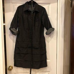 New Direction Black denim layered Dress size 12